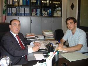 """Il Presidente del XX° Municipio, Gianni Giacomini, e Gabriele Colasanti nel corso dell'intervista rilasciata a """"Cesano Informa"""""""