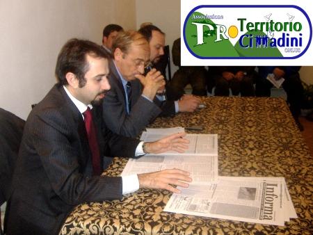 Stefano Erbaggi. Marco Di Cosimo e Luca Malcotti, il 18 dicembre 2008 a Cesano presso l'Associazione Pro Territorio e Cittadini